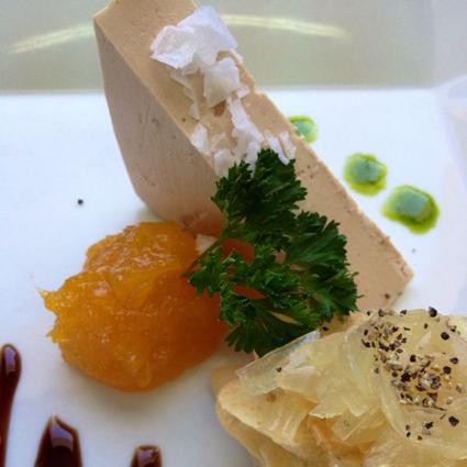 Foie con mango de málaga (mango_mmm…)