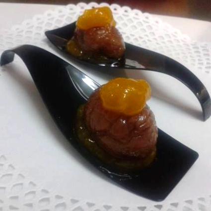 Castañas al brandy con mango de málaga (mango_mmm…)