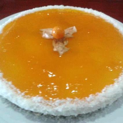 Tarta de queso con cobertura de mango de málaga (mango_mmm…)