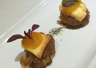 Mini tatín de manzana caramelizada con kumquat de málaga (kumquat_mmm…)